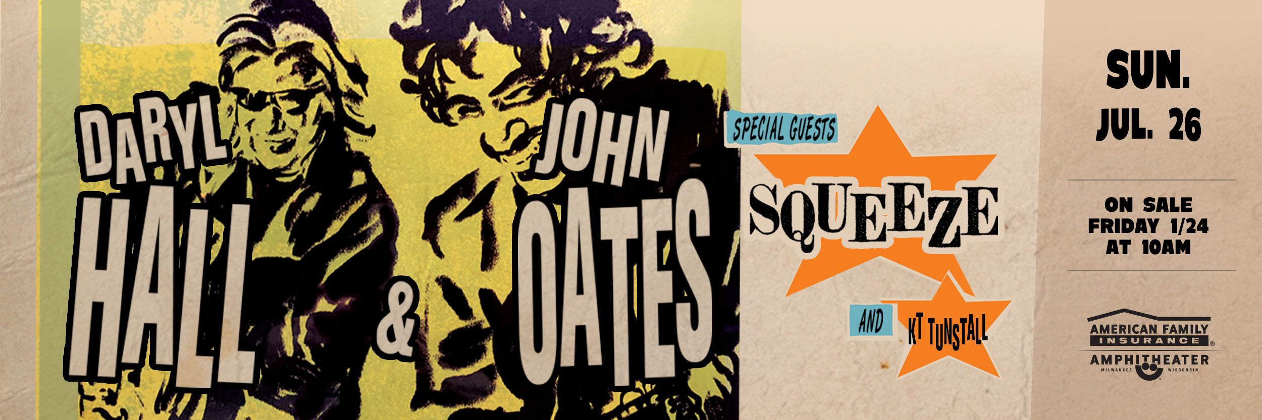 DARYL HALL & JOHN OATES WITH SPECIAL GUESTS SQUEEZE AND KT TUNSTALL