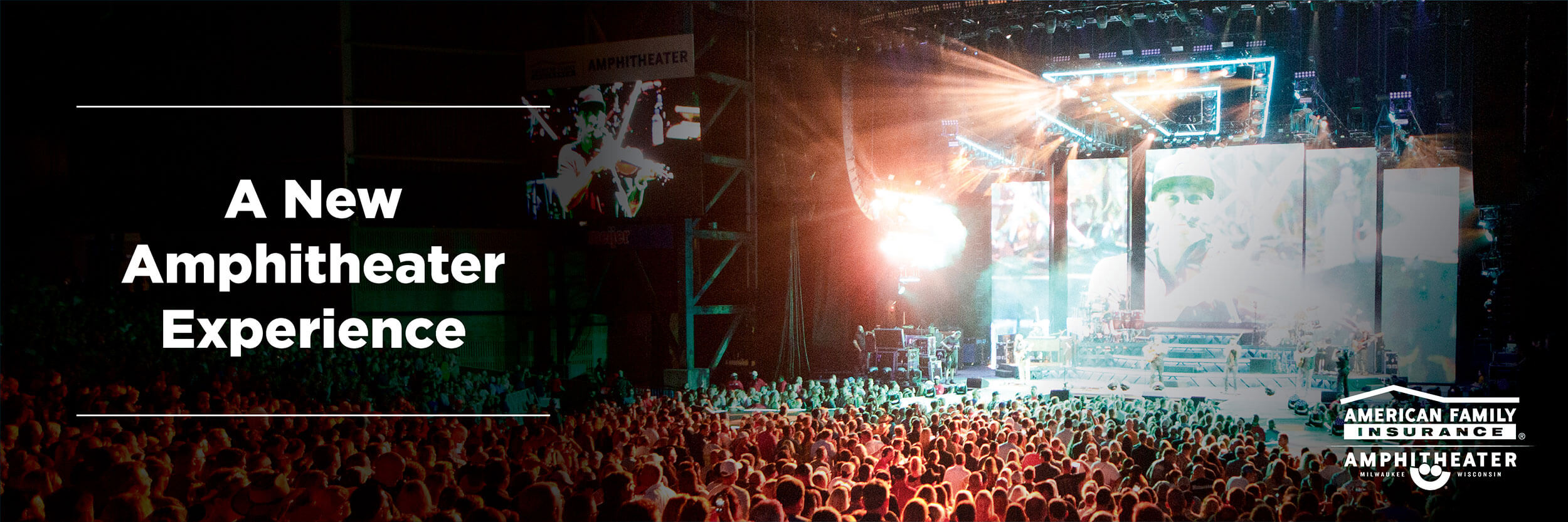 Image of a concert in the American Family Amphitheater
